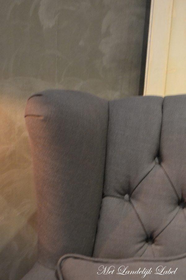 fauteuil met gecapitonneerde rugleuning. Black Bedroom Furniture Sets. Home Design Ideas